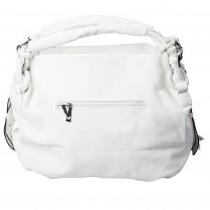 grote handtas versierd met touw, kwasjes wit TastefulTas.nl