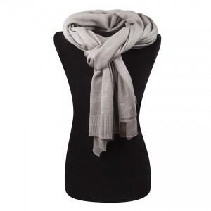 fijn gebreide luxe sjaal grijs TastefulTas.nl