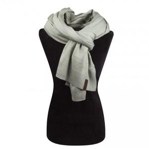 fijn gebreide luxe sjaal olijf groen TastefulTas.nl