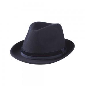 wollen deuk hoed donkerblauw TastefulTas.nl