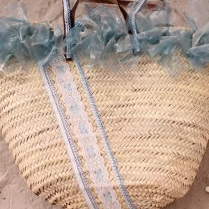 rieten strandtas Ibiza style TastefulTas.nl licht blauw ak